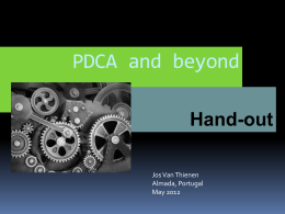 PDCA and beyond-index cards