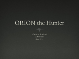 ORION the Hunter