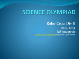 Robo-Cross Power Point with 2015 Playing Field