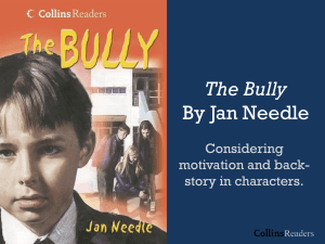 The Bully By Jan Needle
