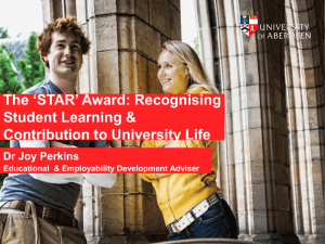 The *STAR* Award - Learning Lives Conference