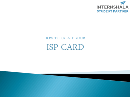ISP CODE - Internshala blog