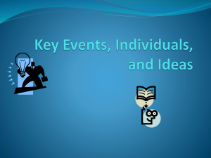 Key Events, Individuals, and Ideas
