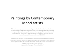 Paintings by Contemporary Maori artists powerpoint