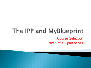 The IPP and MyBlueprint