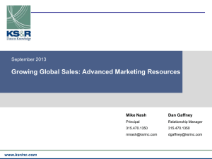 Growing Global Sales: Advanced Marketing