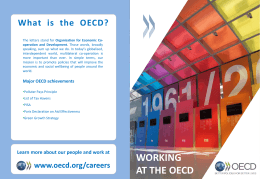 Why the OECD?