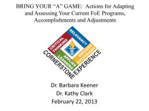 BRING YOUR *A* GAME: Actions for Adapting and Assessing Your