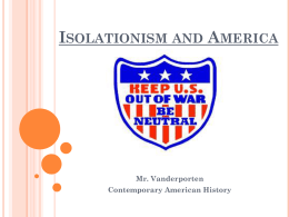 Isolationism and America and Isolationism Political Cartoon