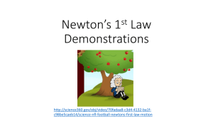 Newton`s 1st Law Demos