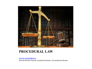PROCEDURAL LAW - RUA - Universidad de Alicante