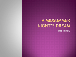 A Midsummer Night`s Dream Review
