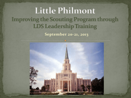 Little Philmont Scout Committee Training Slides