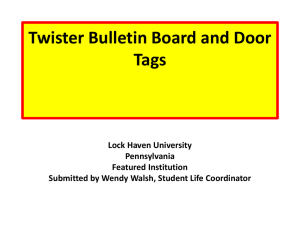 Twister Bulletin Board: College has many obstacles that