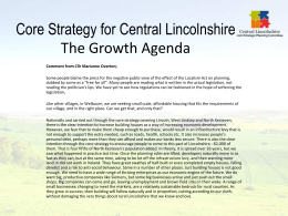 Core strategy for Central Lincolnshire