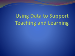 Using Data to Support Teaching and Learning