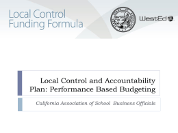 What is the Local Control Funding Formula?
