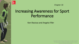 Increasing Awareness for Sport Performance