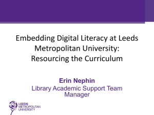Embedding Digital Literacy by Erin Nephin