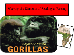 Gorilla Lesson - English Language Arts