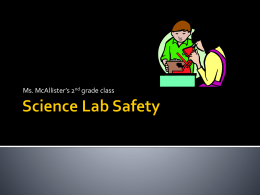 Science Lab Safety