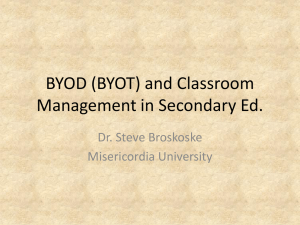 BYOD and Classroom Management in Sec. Ed.