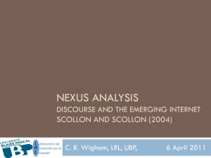 Nexus Analysis Discourse and the Emerging Internet