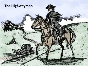 The Highwayman Poem Intro