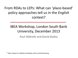 What can `place-based` policy approaches tell us
