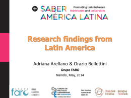 Research findings from Latin America