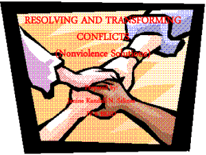 RESOLVING AND TRANSFORMING CONFLICTS - Foursix