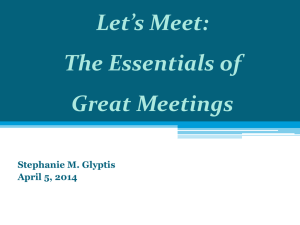Stephanie Glyptis - The Essentials of Great Meetings