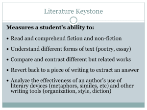 Literature Keystone Exams - Garnet Valley School District