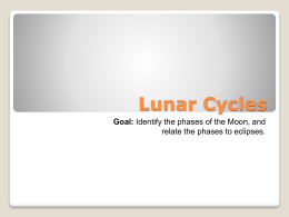 Lunar Cycles - Lake Worth ISD