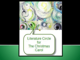 Literature Circle Assignment for The Christmas Carol