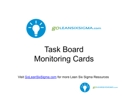 LSW Task Board Monitoring Cards