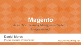 Magento as an LMS integration tool