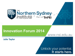 Julie Taylor - Learning and Innovation Forum 2014