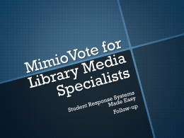 MimioVote for LMS follow-up
