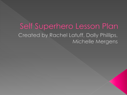 Superherolessonplanpresentation