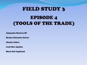 episode 4 - FieldStudy32011-2012