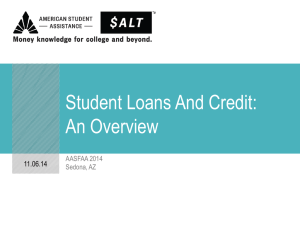 Student Loans And Credit: An Overview