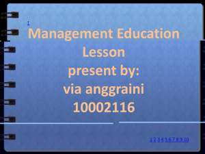 Management Education Lesson present by