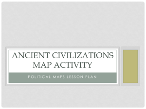 Ancient civilizations map activity