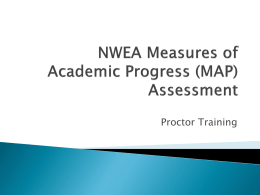 NWEA Measures of Academic Progress (MAP) Assessment