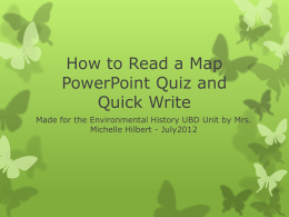 How to Read a Map PowerPoint Quiz from Lesson 2
