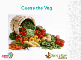 Guess the Veg - KS1