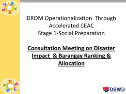 Consultation Meeting on Disaster Impact