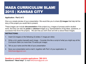 MCA Curriculum Slam Application