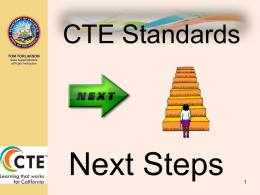 CTE Standards Next Steps - Educating for Careers Conference